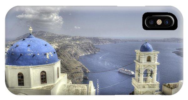 Santorini Churches IPhone Case