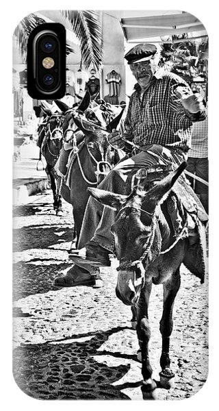 Santorini Donkey Train. IPhone Case