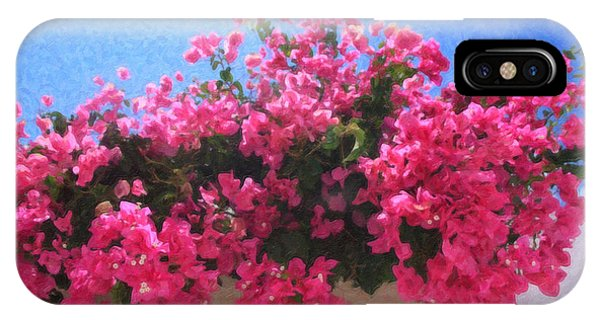 Santorini Flowers Grk1113 IPhone Case