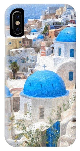 Santorini Oil Painting IPhone Case