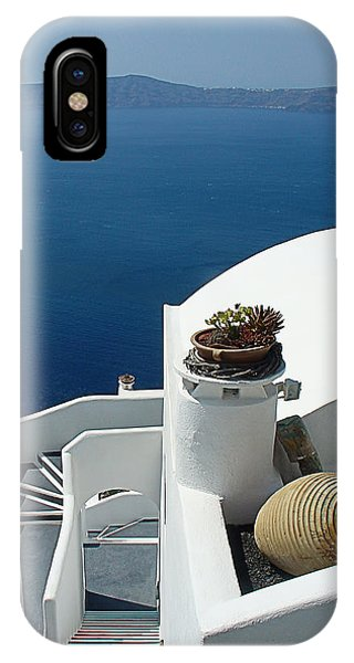 Santorini Welcome IPhone Case