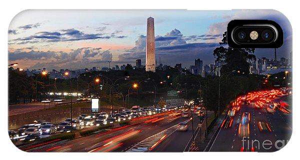 Sao Paulo Skyline - Ibirapuera IPhone Case