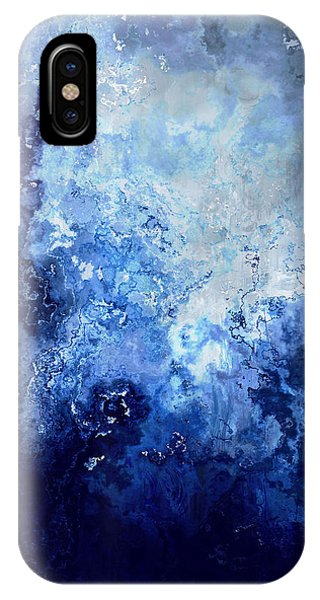 IPhone Case featuring the painting Sapphire Dream - Abstract Art by Jaison Cianelli