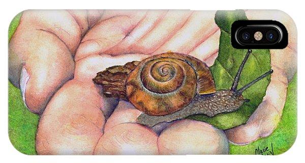 Sarah's Snail IPhone Case