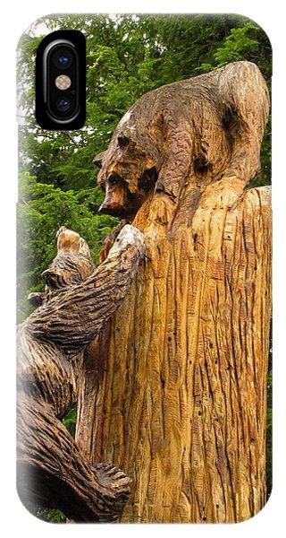 Saranac Wood Carving IPhone Case