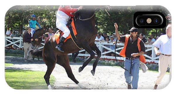 iPhone Case - Saratoga Race Track Paddock by George Fredericks