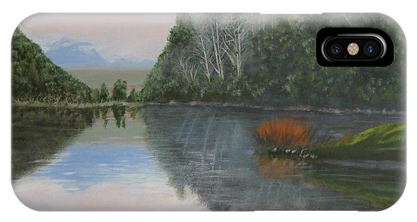 Sarita Lake On Vancouver Island IPhone Case
