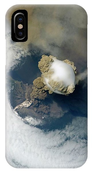 Sarychev Volcano Phone Case by Nasa/science Photo Library