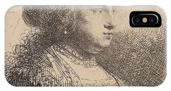 Baroque iPhone Case - Saskia With Pearls In Her Hair by Rembrandt