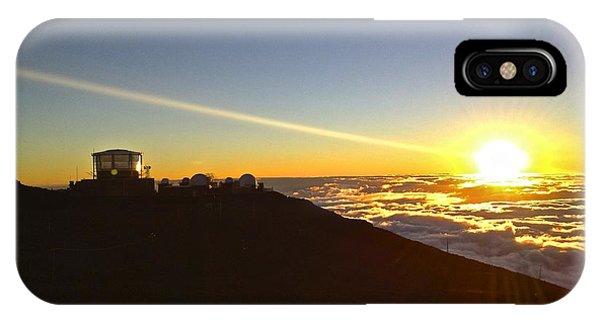Department Of Defense iPhone Case - Satellite City Sunset by Bryan Hurlbut