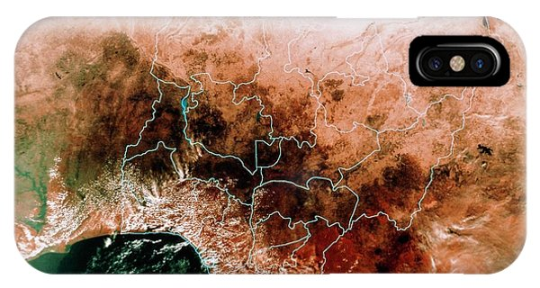 Satellite Mosaic Of Nigeria Phone Case by Mda Information Systems/science Photo Library