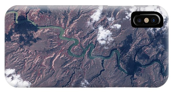 International Space Station iPhone Case - Satellite View Of Big Horn River by Panoramic Images