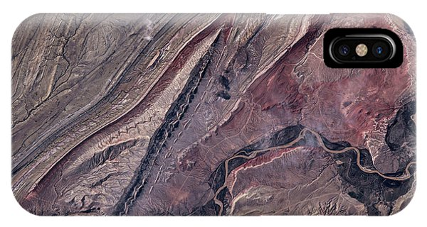 International Space Station iPhone Case - Satellite View Of Big Horn, Wyoming, Usa by Panoramic Images