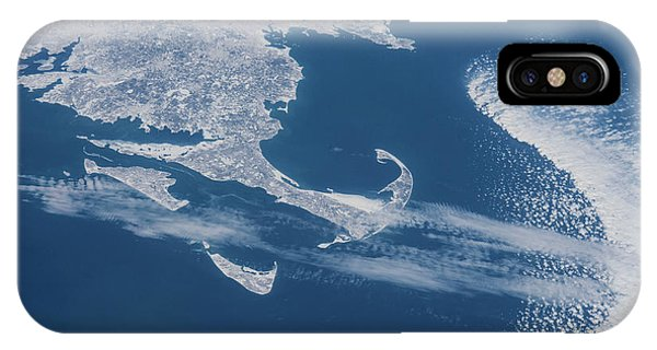 International Space Station iPhone Case - Satellite View Of Cape Cod Area by Panoramic Images