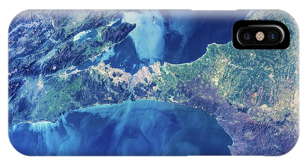 International Space Station iPhone Case - Satellite View Of Istanbul With Sea by Panoramic Images