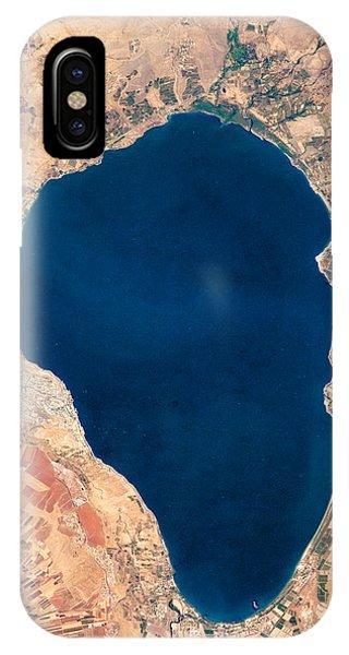 Satellite View Of Lake Tiberias - Sea Of Galilee Israel IPhone Case