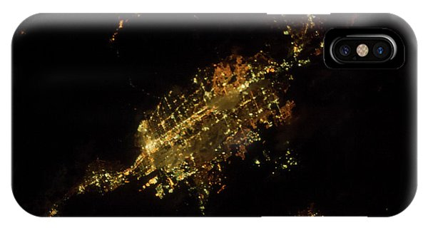 International Space Station iPhone Case - Satellite View Of Las Vegas, Nevada, Usa by Panoramic Images