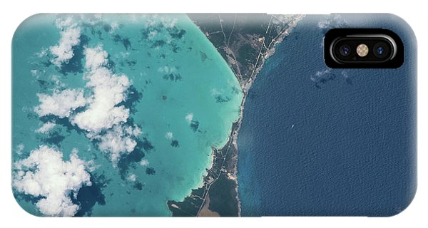 International Space Station iPhone Case - Satellite View Of North Eleuthera by Panoramic Images
