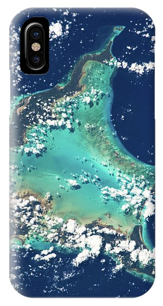 International Space Station iPhone Case - Satellite View Of Turks And Caicos by Panoramic Images