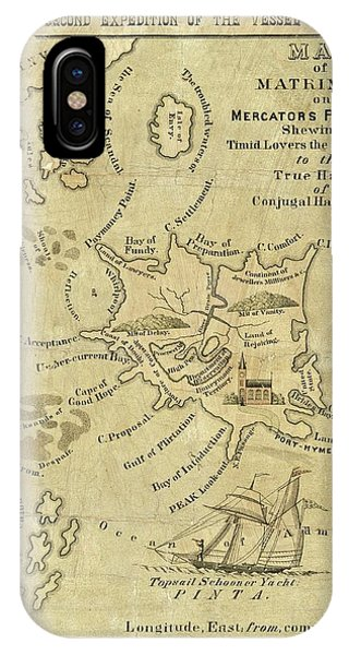 Satirical Map For Lovers Phone Case by Library Of Congress, Geography And Map Division