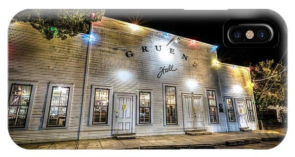 Saturday Night At Gruene Hall IPhone Case