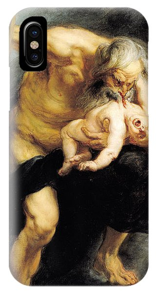 Staff iPhone Case - Saturn Devouring His Son by Peter Paul Rubens