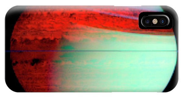 Infrared Radiation iPhone Case - Saturn by Nasa/jpl/u. Arizona/science Photo Library