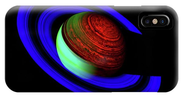 Infrared Radiation iPhone Case - Saturn by Nasa/jpl/u.arizona/science Photo Library