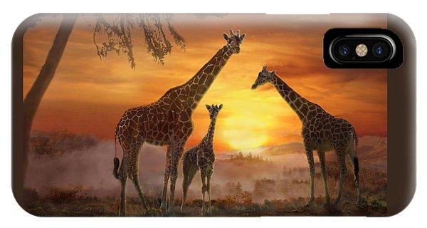 Savanna Sunset IPhone Case