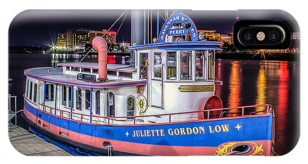Lake Juliette iPhone Case - Savannah Belle Dot Ferry by Rob Sellers