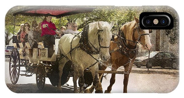 Savannah Carriage Ride IPhone Case