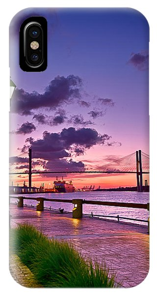 Savannah River Bridge IPhone Case