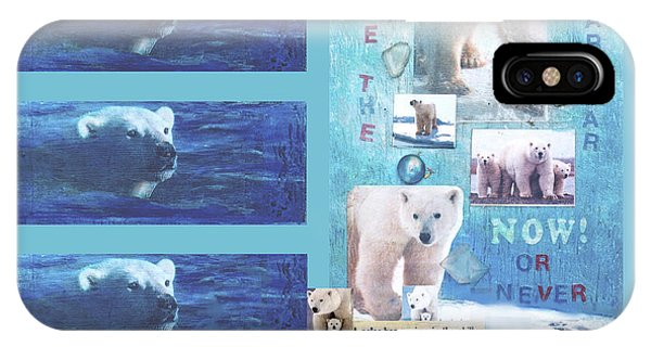 Save The Polar Bear Now Or Never IPhone Case