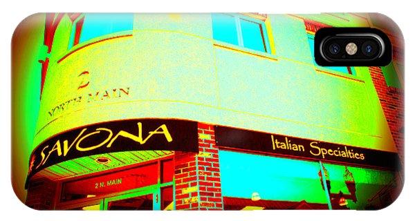 Savona Fine Italian Food And Wine 6 IPhone Case