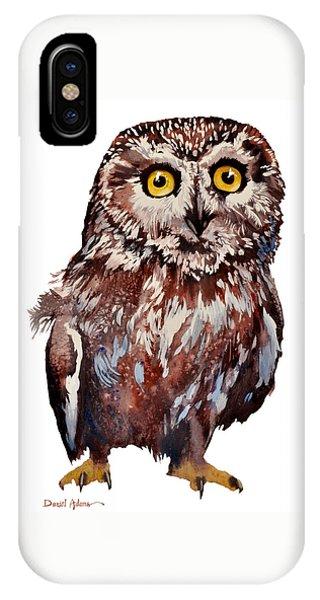 Da148 Saw Whet Owl Daniel Adams IPhone Case
