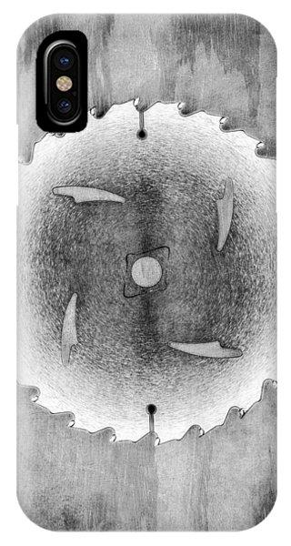Craftsman iPhone Case - Sawblade Bw by YoPedro