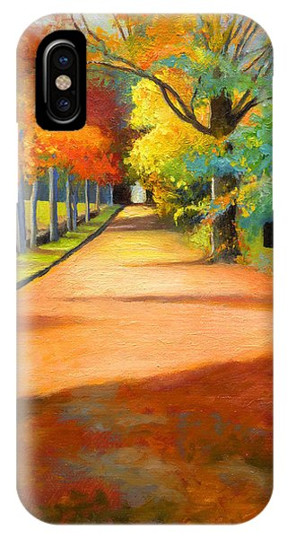 Sawmill Road Autumn Vermont Landscape IPhone Case
