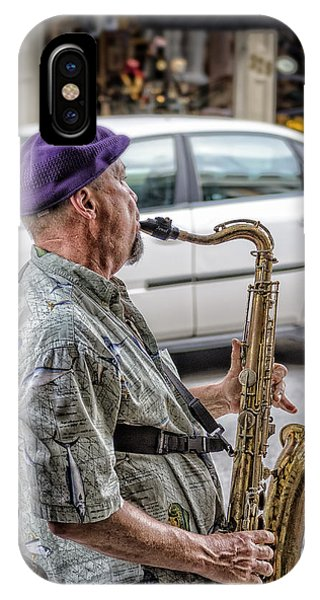Sax In The Street IPhone Case