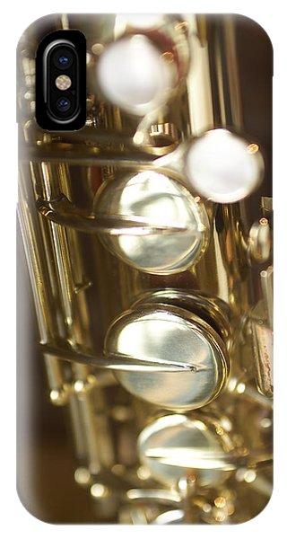 Saxophone Close Up IPhone Case