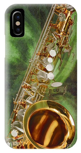 Saxophone Instrument Painting Music  In Color 3253.02 IPhone Case
