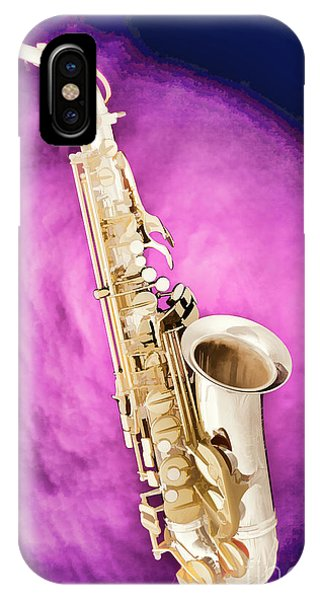 Saxophone Jazz Instrument Bell Painting In Color 3272.02 IPhone Case