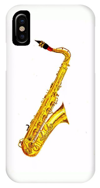 Saxophone iPhone X Case - Saxophone by Michael Vigliotti