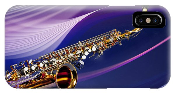 Saxophone Music In Space In Color 3251.02 IPhone Case