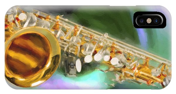 Saxophone Swirl Music Painting In Color 3249.02 IPhone Case
