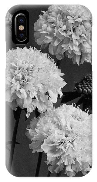 Scabiosa Peace Flowers IPhone Case