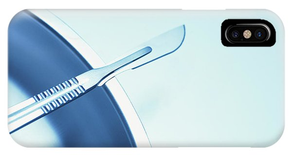 Stainless Steel iPhone Case - Scalpel by Cristina Pedrazzini/science Photo Library