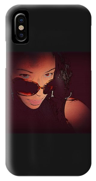 Futuristic Women Sunglasses Fashion Style Art Print Ai P. Nilson  IPhone Case