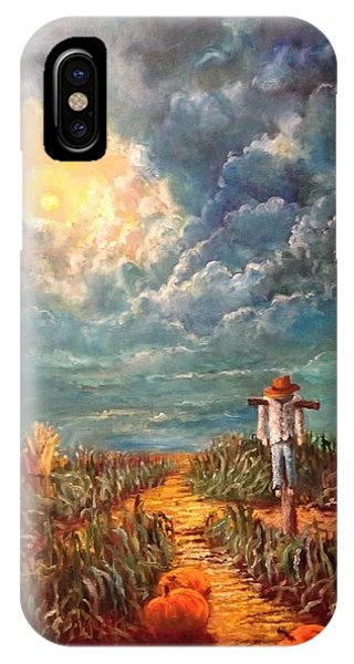 Scarecrow, Moon, Pumpkins And Mystery IPhone Case