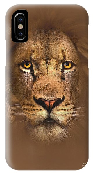 Digital iPhone Case - Scarface Lion by Robert Foster