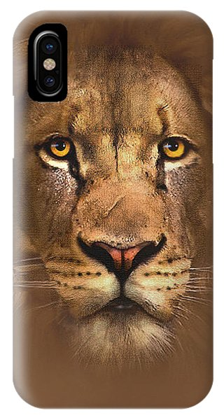 Lion iPhone Case - Scarface Lion by Robert Foster